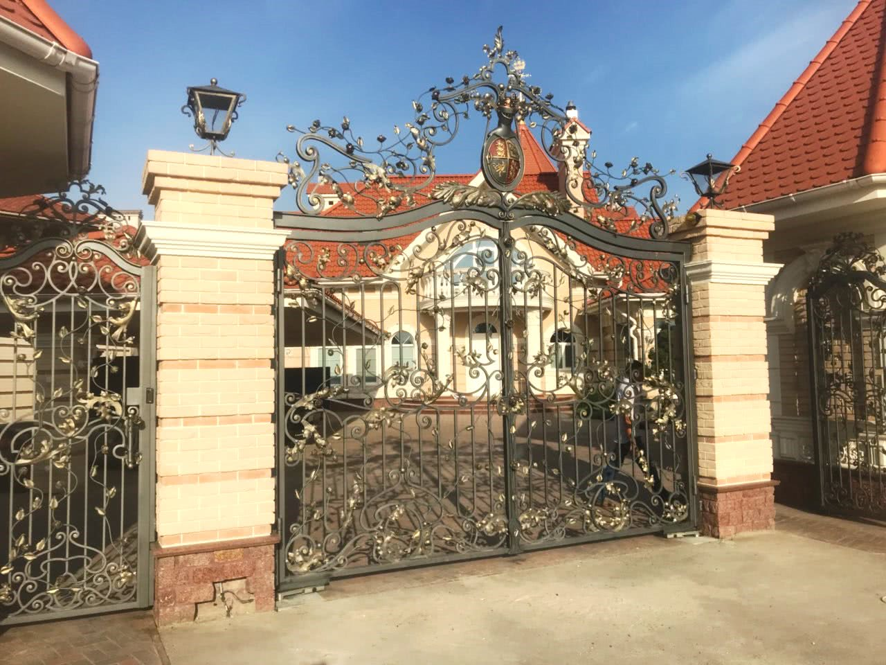 Exclusive wrought iron gates from company Alexandr & Sylvester