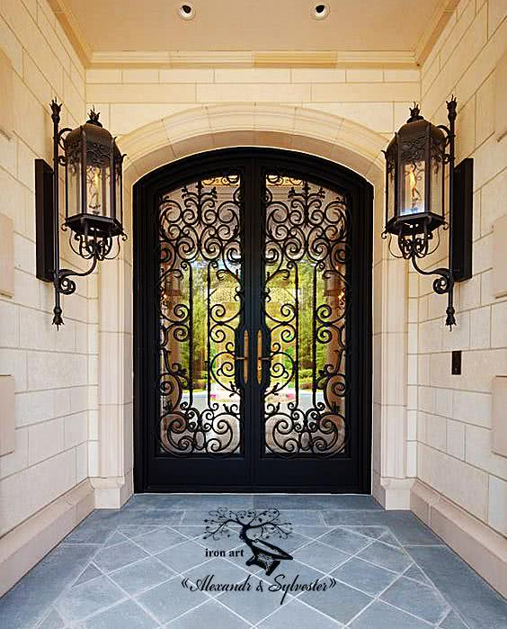 Handcrafted Wrought Iron Front Doors Alexandr Sylvester